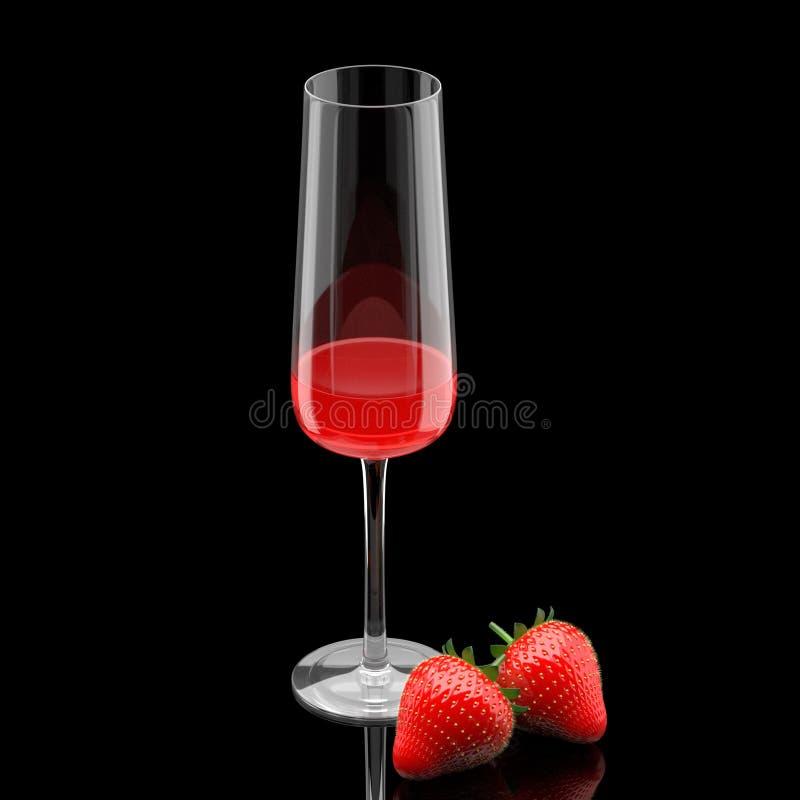 Juice Strawberry ilustração stock