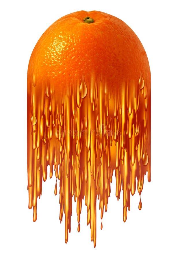 Juice Symbol alaranjado ilustração royalty free