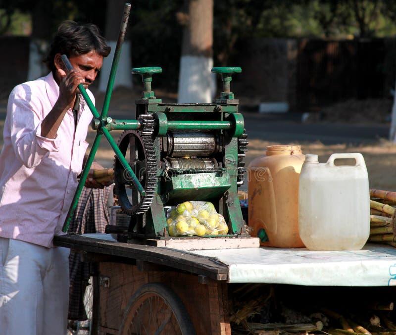 Juice vendor royalty free stock photos