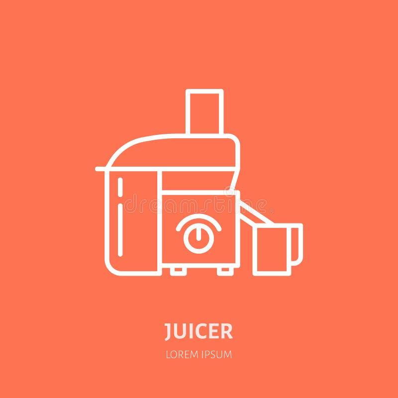 Juicer mieszkania linii wektorowa ikona Kulinarnego wyposażenia liniowy logo Konturu symbol dla gospodarstw domowych kuchennych u royalty ilustracja