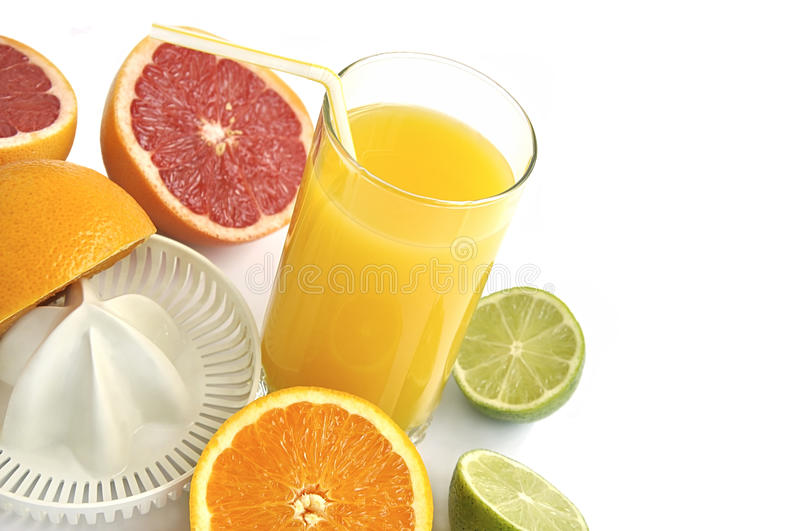 Download Juicer With Slices Of Citruses And Fresh Juice. Stock Photo - Image of cold, part: 10258650