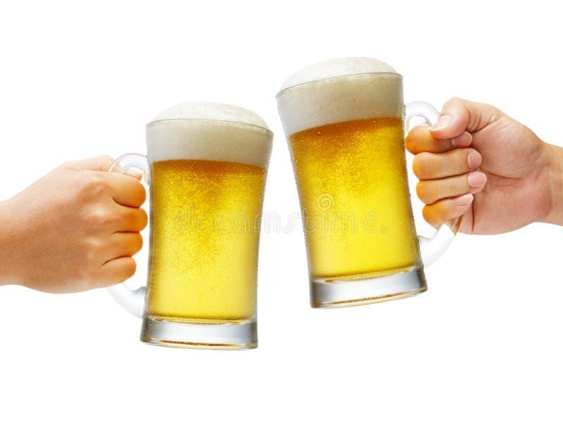 Juicht met bieren toe stock foto's