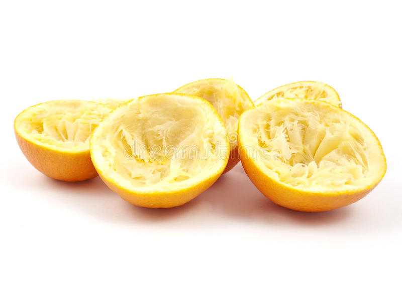 juicing的橙皮 免版税图库摄影