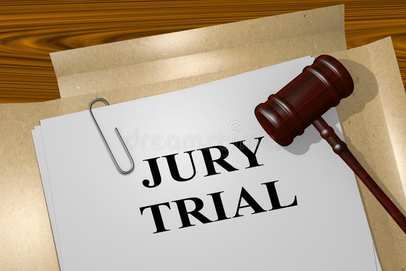 Juicio con jurado - concepto legal ilustración del vector