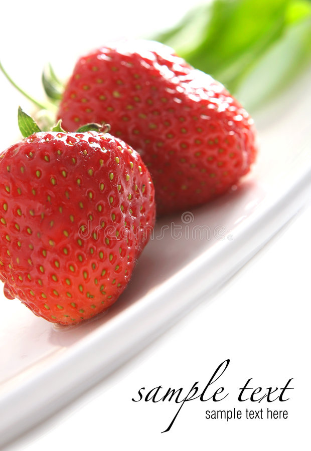 juicy κόκκινο γλυκό φραουλών στοκ φωτογραφία με δικαίωμα ελεύθερης χρήσης