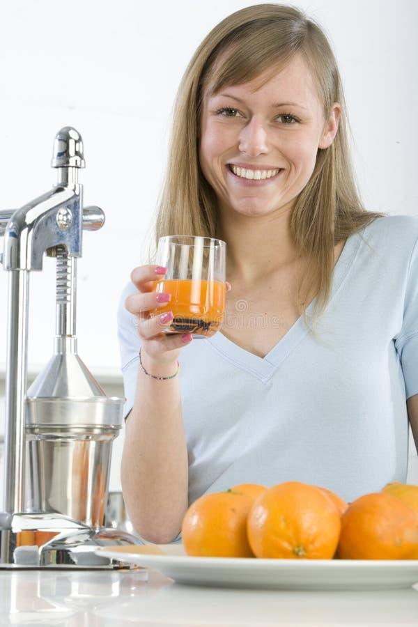 juicy πορτοκάλι κουζινών κορ& στοκ εικόνα