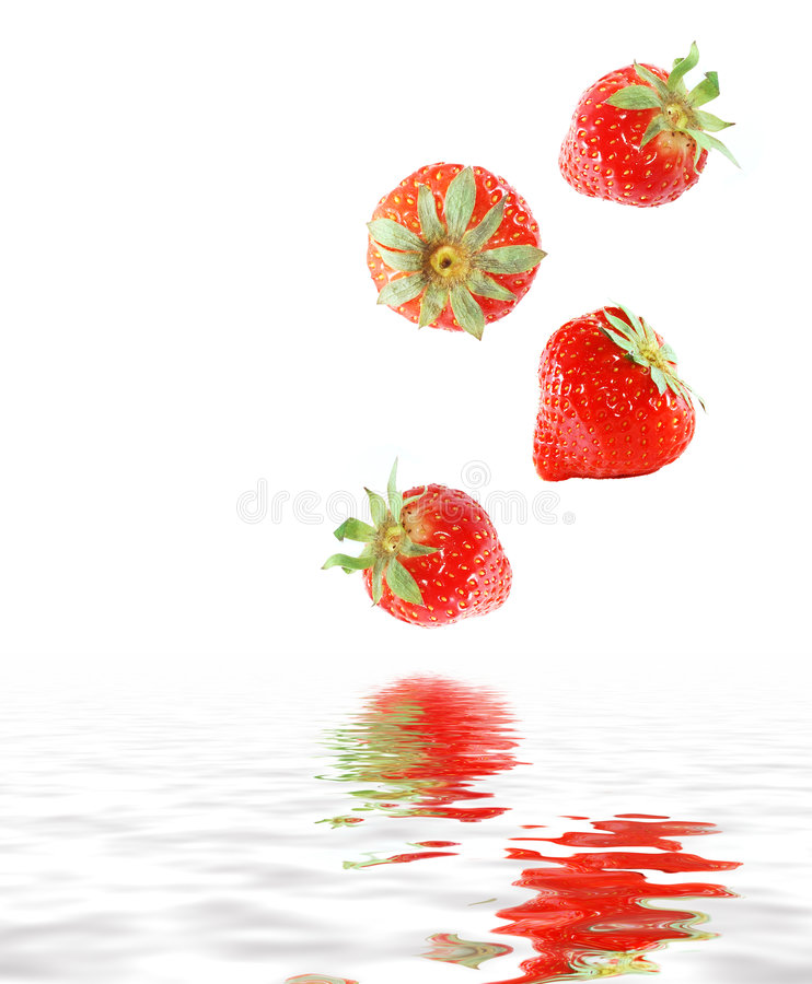 juicy φράουλες στοκ εικόνες