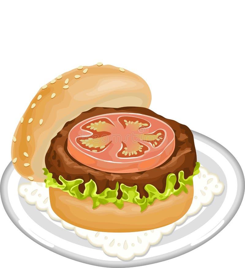 Download Juicy Burger stock vector. Illustration of sandwich, vector - 27565117