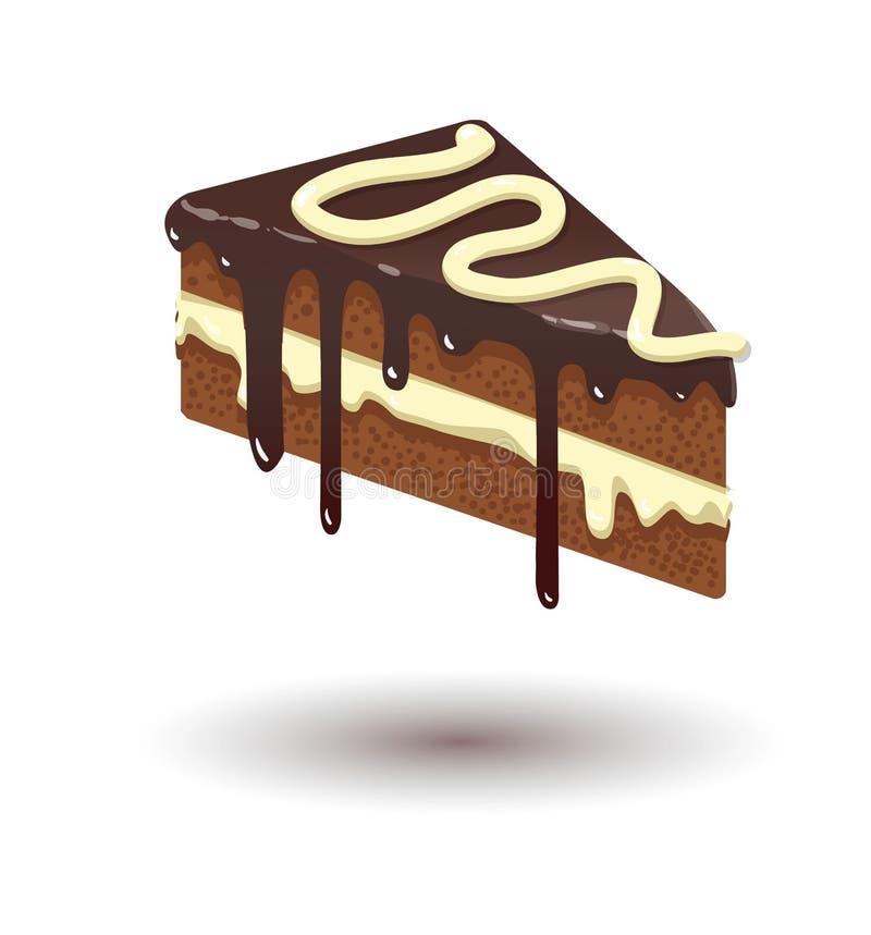 Juicy cake illustration stock photos