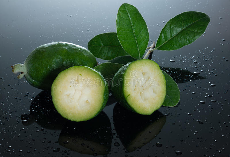 Juicy Feijoa fruit royalty free stock image