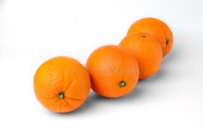 Juicy fresh oranges fruit isolated on white background royalty free stock photography