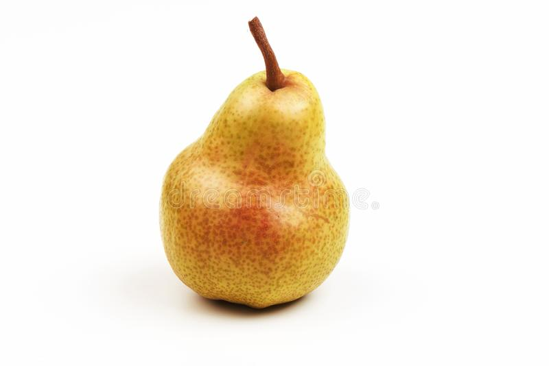 Juicy fresh ripe Williams pear, isolated on a white background royalty free stock photos