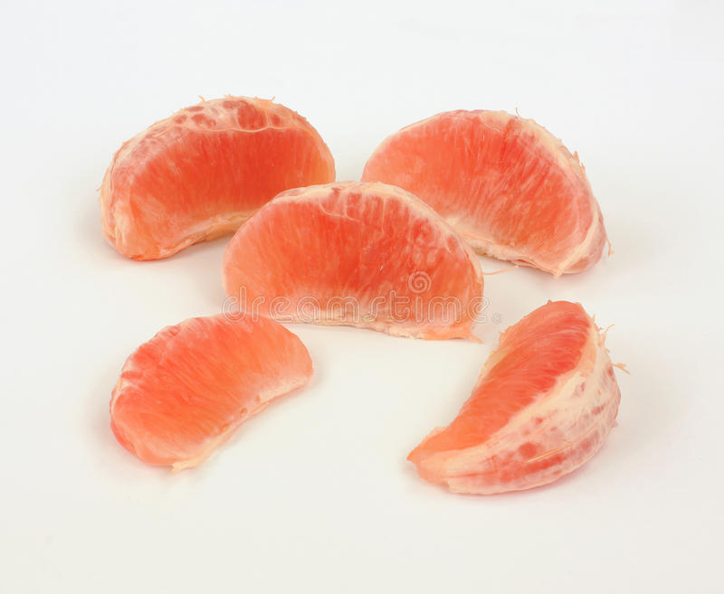 Juicy Grapefruit Slices Stock Images