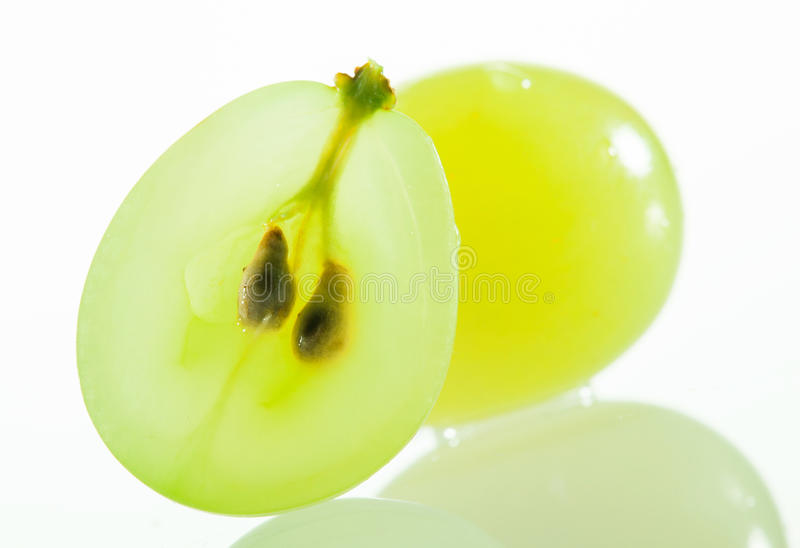 Juicy green grapes stock photo