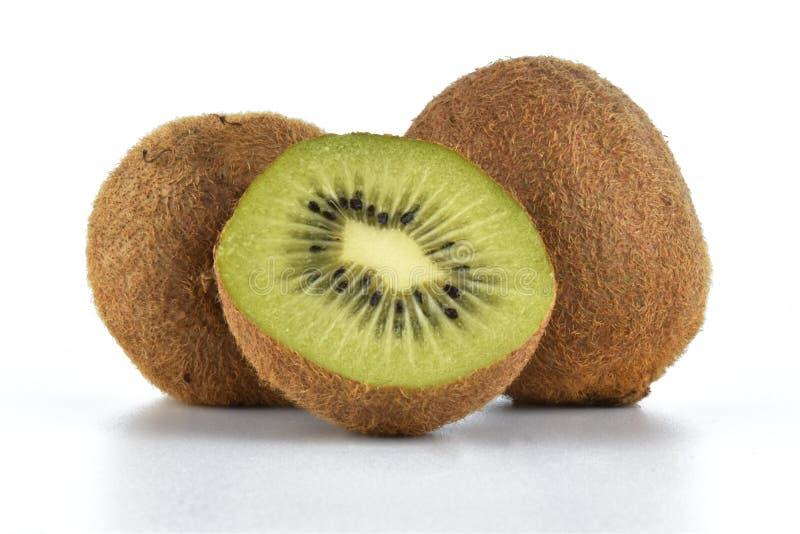 Fresh kiwi on white background stock images