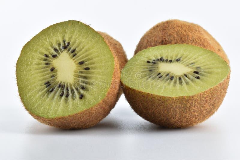 Fresh kiwi on white background stock photography