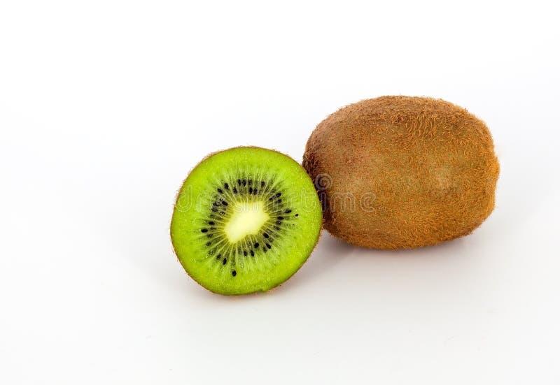 Juicy kiwi on a white background royalty free stock photography