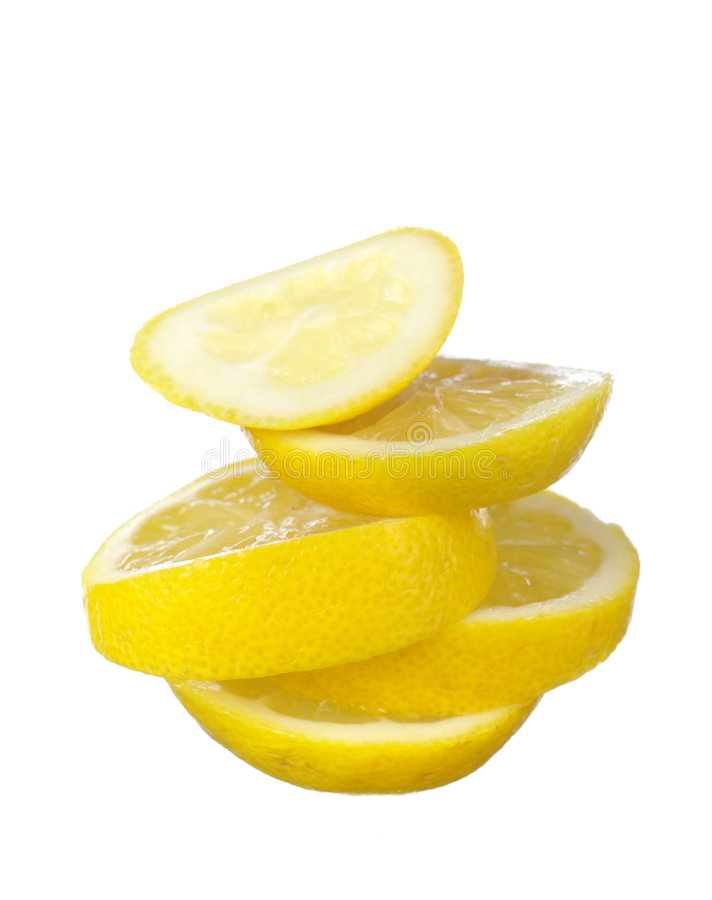 Download Juicy lemon slices stock image. Image of isolated, organic - 8156009