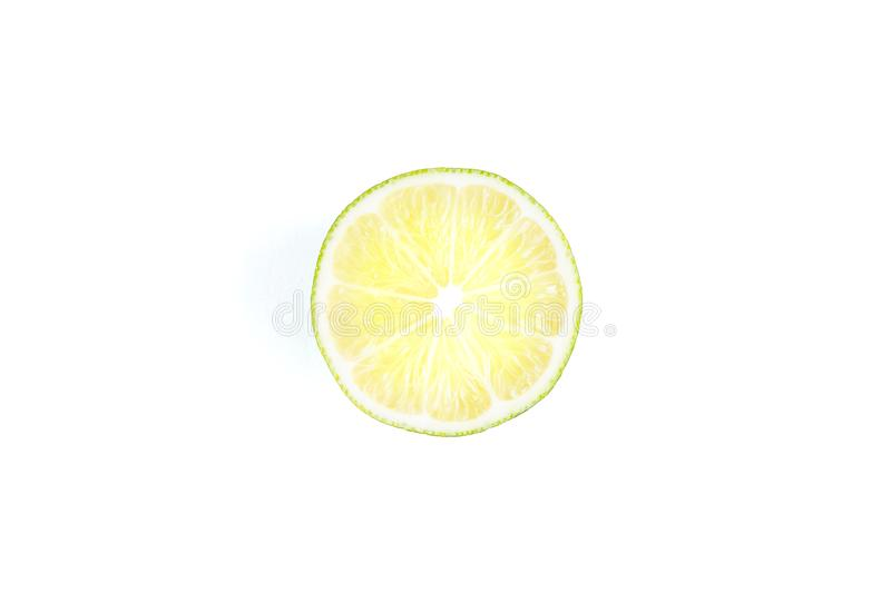 Lime isolated on white background stock images