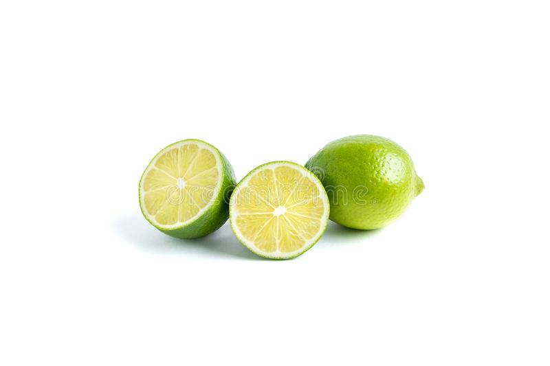 Lime isolated on white background royalty free stock photography