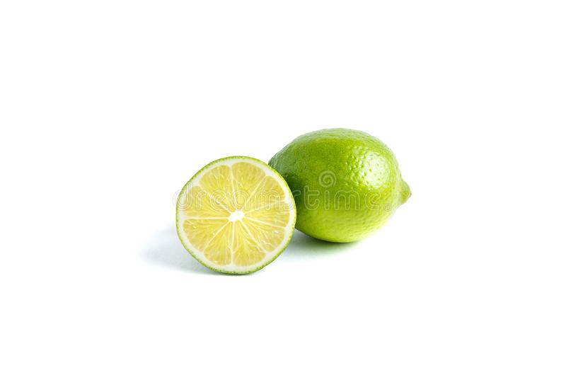Juicy lime on white background royalty free stock images