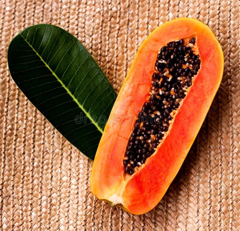Download Juicy papaya stock image. Image of brown, slice, green - 28902429