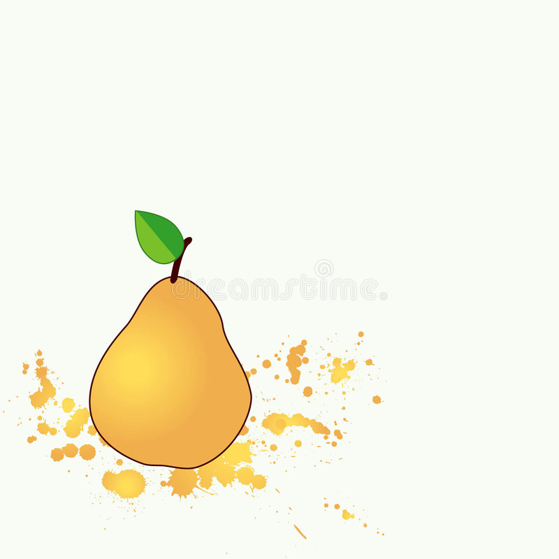 Download Juicy pear stock vector. Image of ecology, isolated, orange - 5097355
