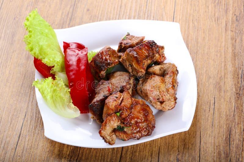 Pork sashlik stock photos