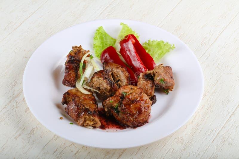 Pork sashlik royalty free stock image