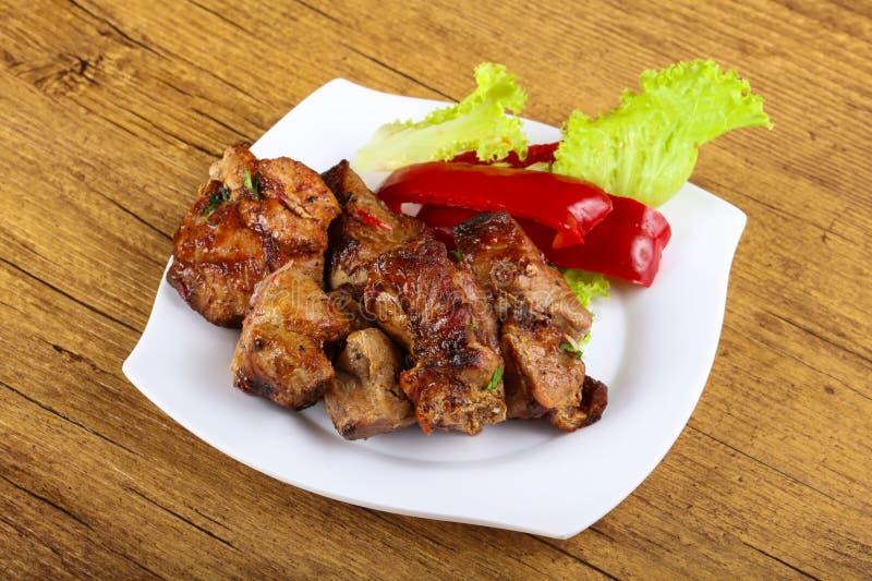 Pork sashlik stock image