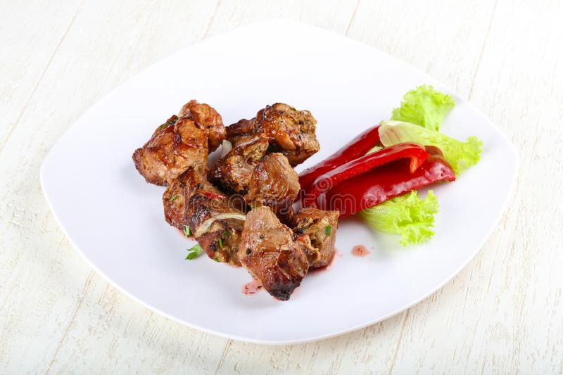 Pork sashlik stock images