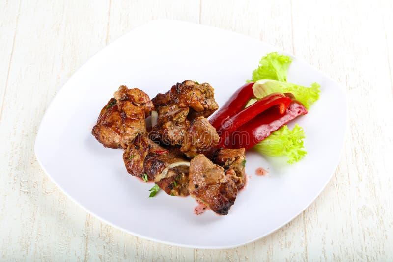 Pork sashlik royalty free stock photos