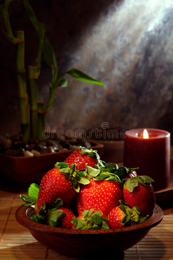 Download Juicy Red Strawberries In A Wood Bowl Stock Image - Image: 17831469