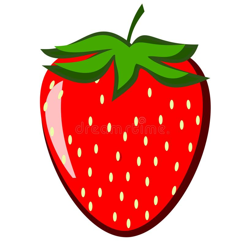 Large Strawberry Clipart royalty free stock images
