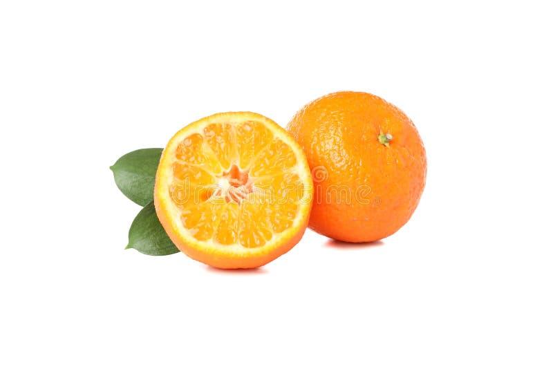 Juicy ripe mandarins isolated on background royalty free stock images