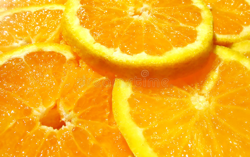 Juicy sliced oranges royalty free stock photo