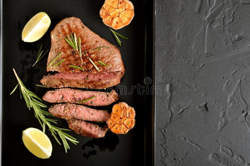 Juicy steak medium rare beef stock images
