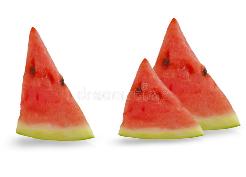 Juicy watermelon piece fruit a white background refreshment royalty free stock photography