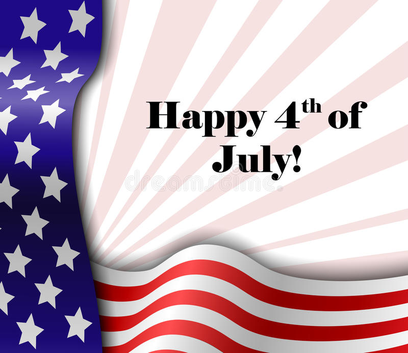 4 juillet cadre patriotique des textes illustration stock