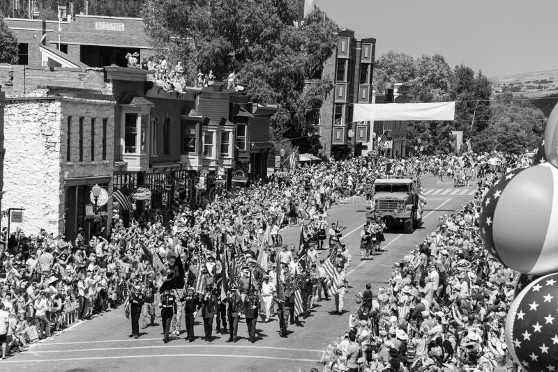 4 juillet 2018 - défilé annuel de Jour de la Déclaration d'Indépendance, tellurure, Colora photographie stock libre de droits