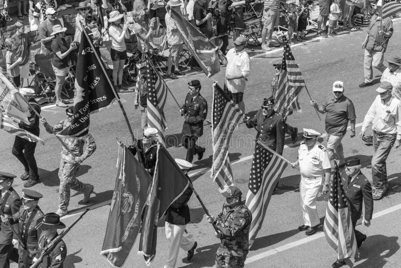 4 juillet 2018 - défilé annuel de Jour de la Déclaration d'Indépendance, tellurure, Colora photo libre de droits