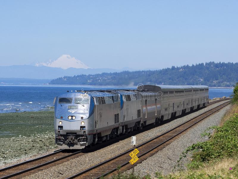 14 juillet 2018 ; Edmonds, WA, Etats-Unis ; Amtrak P42 48 photographie stock libre de droits