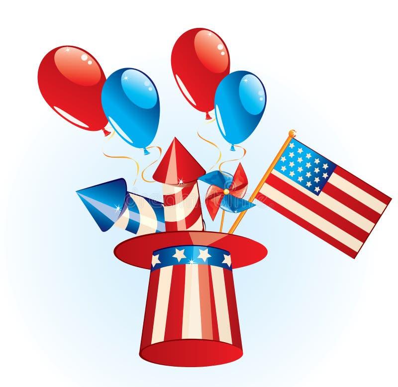 4 juillet Jour de la Déclaration d'Indépendance illustration libre de droits