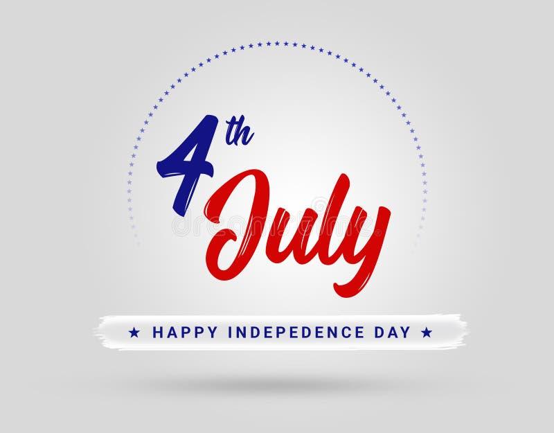 4 juillet jour Etats-Unis d'Indepedence photo stock