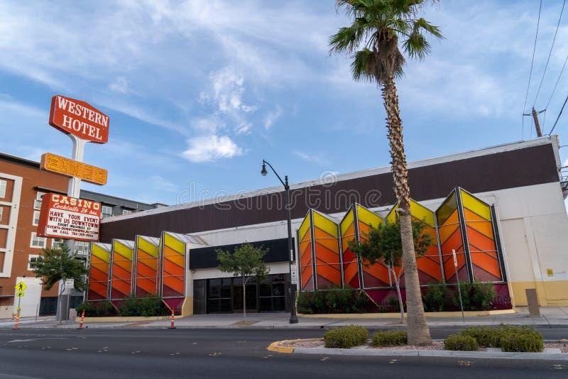 11 juillet 2018 Las Vegas, nanovolt : Le vieux casino et bingo-test occidentaux Hall d'hôtel photos stock