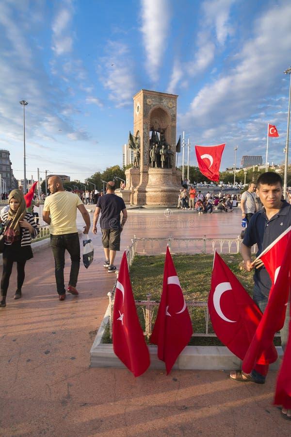 15 juillet protestations de tentative de coup à Istanbul image libre de droits