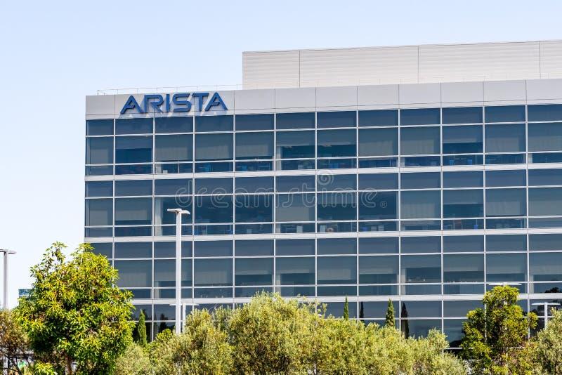 30 juillet 2019 Santa Clara/CA/Etats-Unis - les réseaux précédemment Arastra d'Arista est une société de mise en réseau d'ordinat image libre de droits