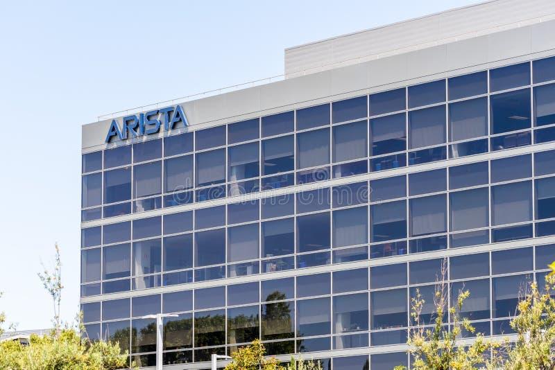 30 juillet 2019 Santa Clara/CA/Etats-Unis - les réseaux précédemment Arastra d'Arista est une société de mise en réseau d'ordinat photographie stock