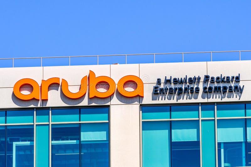 29 juillet 2019 Santa Clara/CA/sièges sociaux réseaux d'Etats-Unis - Aruba dans Silicon Valley ; Aruba est Santa Clara, basée sur photos libres de droits