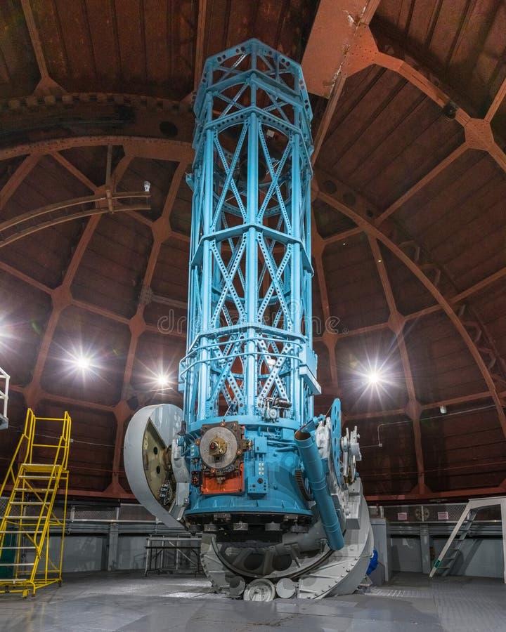 9 juin 2018 Mt Wilson/CA/Etats-Unis - le télescope 60-Inch historique (accompli en 1908) construit principalement pour photograph photographie stock libre de droits